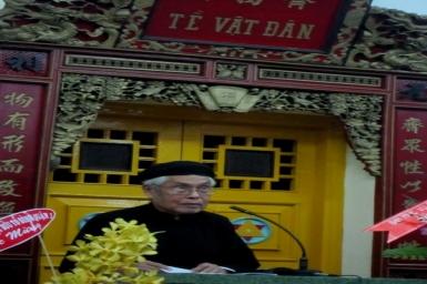 Bài phát biểu nhân 90 năm Minh Lý Đạo Khai - Đạo trưởng Đại Bác