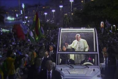 ĐHGTTG (25/7): Lễ chào đón Đức Giáo Hoàng Phanxicô tại Copacabana