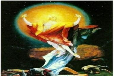 """""""Sự phục sinh của Chúa"""" theo họa sĩ Matthias Grünewald"""