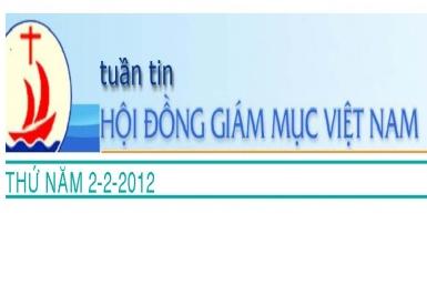 Tuần tin HĐGM Việt Nam số 5-2012