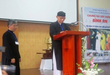 """Chia sẻ của đại diện Minh Lý Đạo tại cuộc Hội ngộ """"Chung tay xây dựng bình an"""""""
