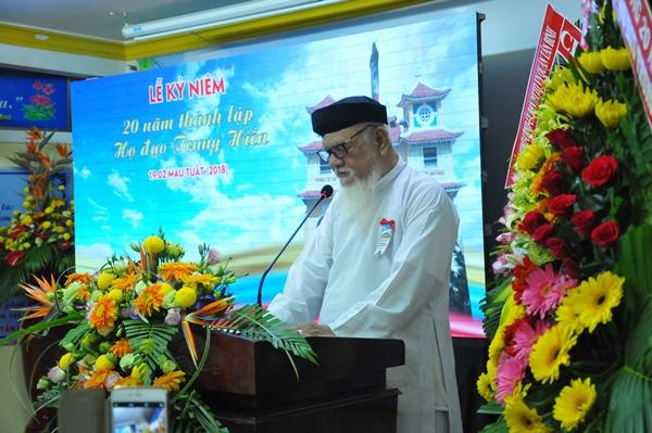 Phát biểu của Giáo hữu Thượng Công Thanh nhân dịp 20 TT Trung Hiền (04.04.2018)