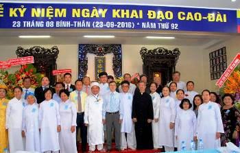 Lễ kỷ niệm Ngày Khai Đạo Cao Đài tại Nam Thành TT (23.9.2016)