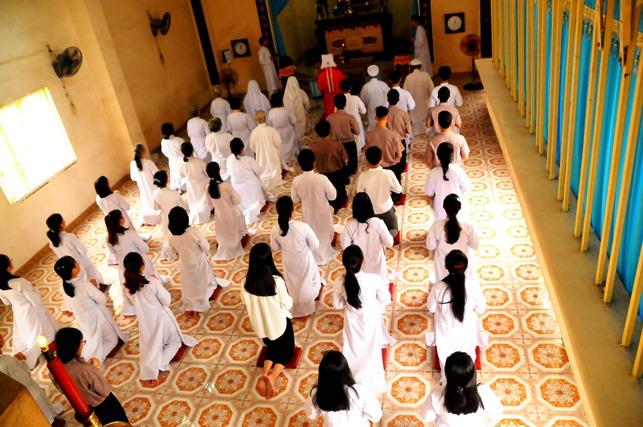Thánh Thất Trung Minh: Lễ cầu nguyện nhập học, Tập thể tu tập sinh (22.09.2019)