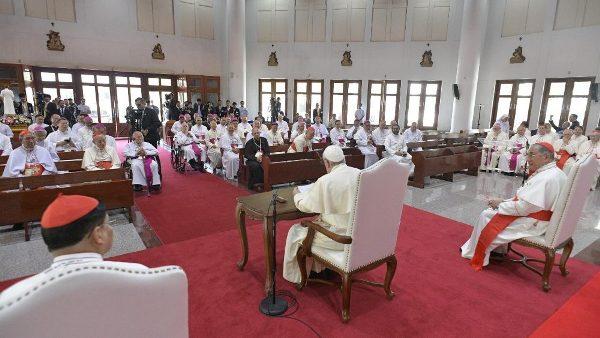 ĐGH Phanxicô gặp các Giám mục Thái Lan và Liên hội đồng Giám mục Á châu