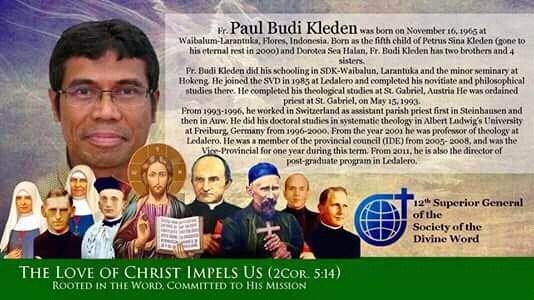 Tân Bề trên Tổng quyền dòng Ngôi Lời: Cha Paulus Budi Kleden