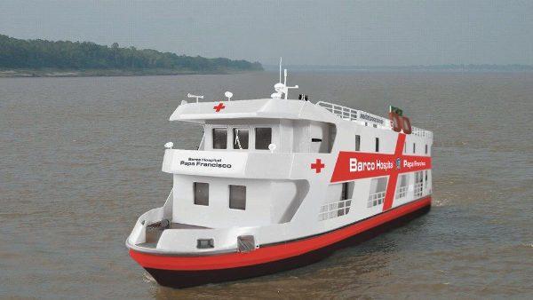 """ĐGH viết thư chúc mừng tàu bệnh viện """"ĐGH Phanxicô"""" đã đến Belem của Brazil"""