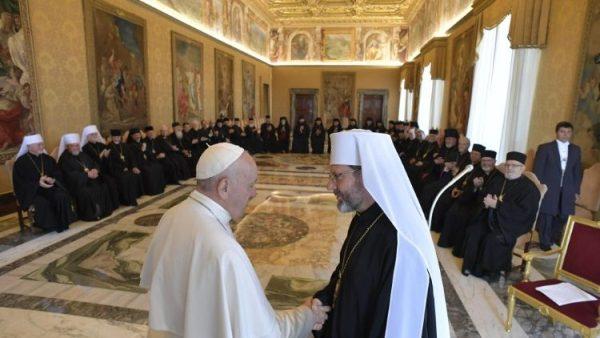ĐGH Phanxicô gặp các Giám mục Công giáo Đông phương Ucraina