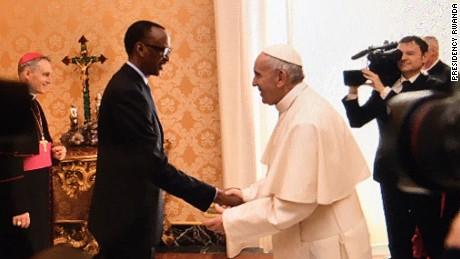 Đức Giáo hoàng Phanxicô tiếp kiến Tổng thống Rwanda