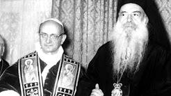 ĐGH Phaolô VI và Thượng phụ Chính Thống giáo Athenagoras (1/1964)