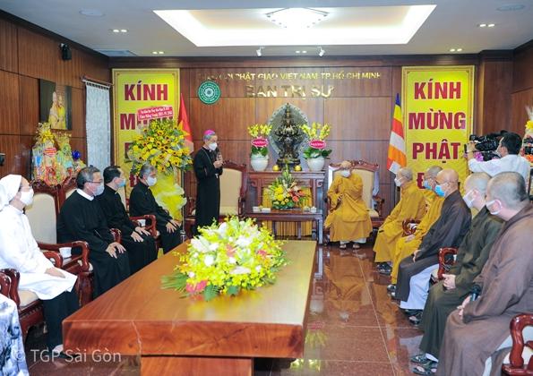 Tổng Giáo phận Sài Gòn: Chúc mừng Vesak 2021, Phật lịch 2565