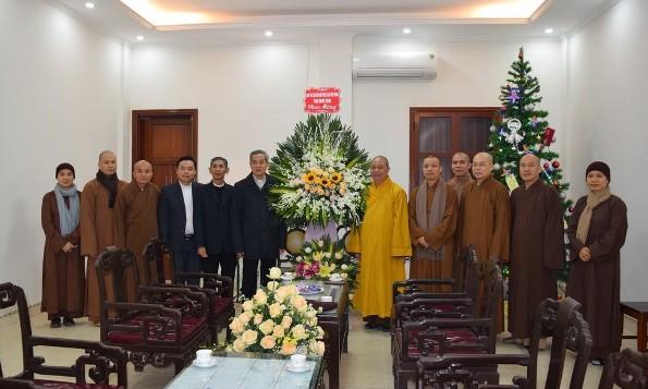 Đức TGM Giuse Nguyễn Năng tiếp Ban Trị sự Giáo hội Phật giáo tỉnh Ninh Bình