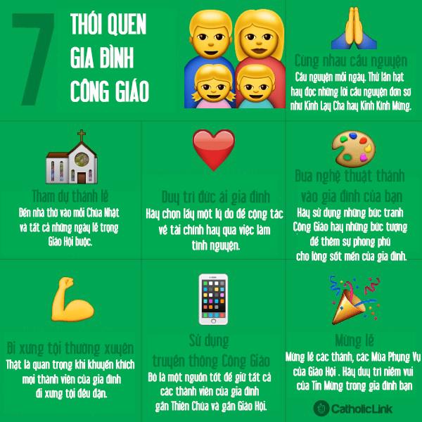 Bảy thói quen lớn để phát triển gia đình Công giáo