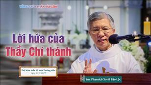 Lời hứa của Thầy Chí thánh