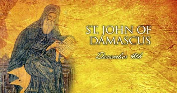 Thánh Gioan Damas, Tiến sĩ Hội Thánh (04/12)