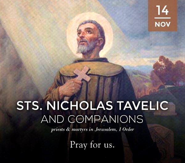 Thánh Nicholas Tavelic và các Bạn tử đạo Jerusalem (14/11)