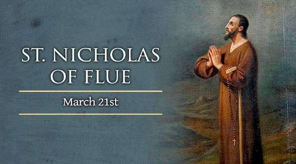 Thánh Nicolas Flüe (21/03)