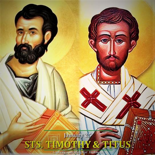 Thánh Timôthêô và thánh Titô (26/01)