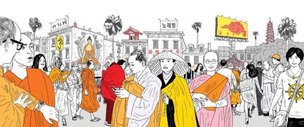 Vùng đất của nhiều truyền thống Phật giáo