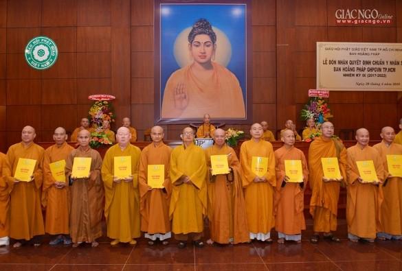 Ban Hoằng pháp Phật giáo TP.HCM ra mắt nhân sự