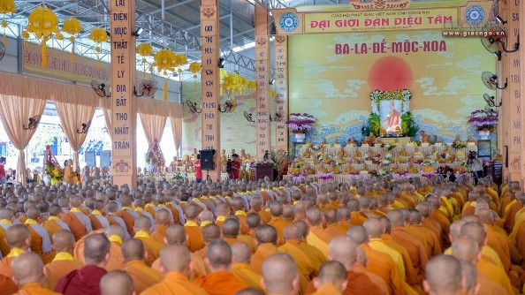 Đồng Nai: Gần 3.000 giới tử dự lễ khai mạc Đại giới đàn Diệu Tâm