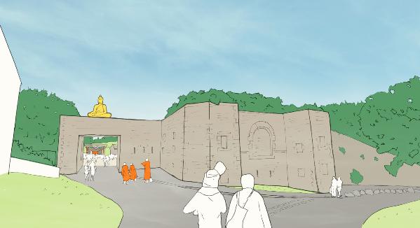 Anh: Cải tạo pháo đài quân sự thành cơ sở Phật giáo
