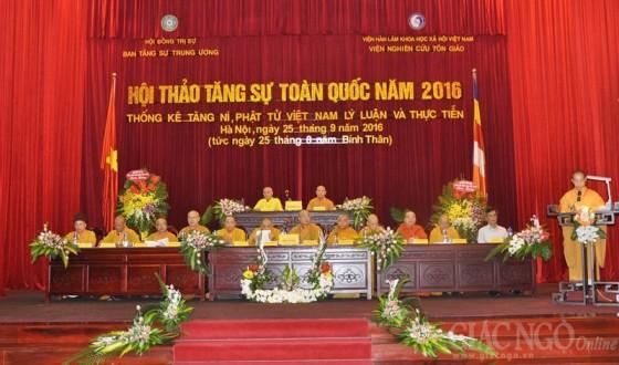 Hà Nội: Khai mạc hội thảo Tăng sự toàn quốc 2016