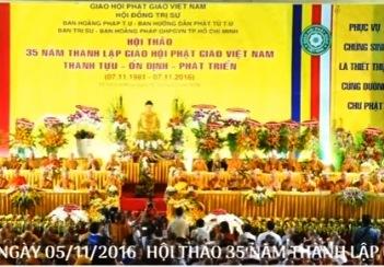 Hội thảo kỷ niệm 35 năm thành lập Giáo Hội Phật Giáo Việt Nam