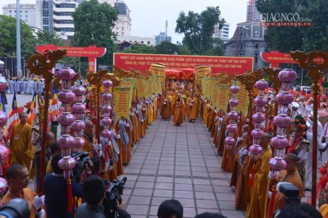 Lễ cầu nguyện trước giờ khai mạc chính thức Đại hội Phật giáo toàn quốc lần thứ VIII