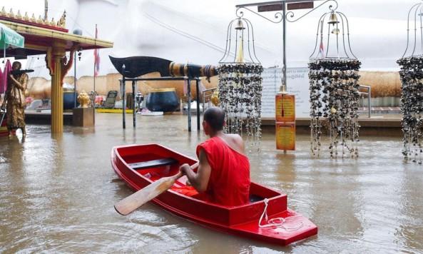 Thái Lan: Nhiều chùa bị thiệt hại nghiêm trọng do lũ lụt