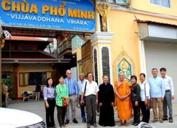 Ban MVĐTLT thăm chùa Phổ Minh (8.12.2016)
