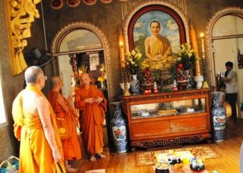 Đoàn Phật giáo Thái Lan thăm TX Trung Tâm và Pháp Viện MĐQ