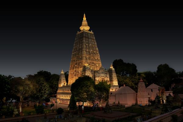 Ấn Độ: Công trình thắp sáng tháp Đại Giác hoàn thành đúng kế hoạch