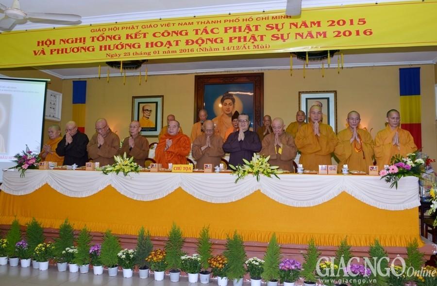 Phật giáo TP.HCM tổng kết công tác Phật sự 2015
