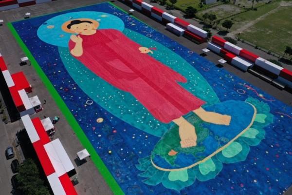 Hoàn thành bức tranh Đức Phật lớn nhất thế giới
