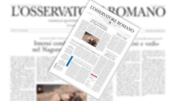 Theo ý ĐGH, báo Osservatore Romano của Tòa Thánh phát hành phụ trương về người vô gia cư Roma
