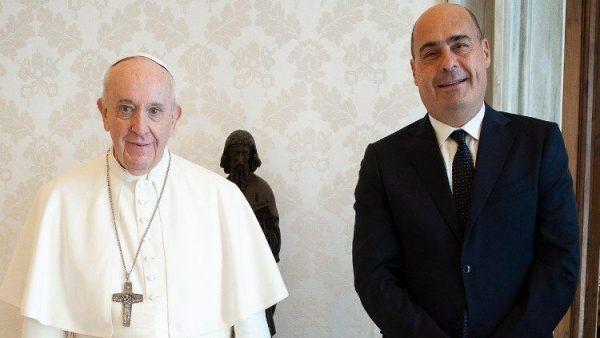 ĐGH tiếp chủ tịch miền Lazio và thị trưởng Roma nhân dịp đầu năm 2021