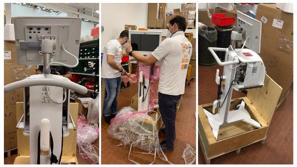 ĐGH tặng máy trợ thở, máy siêu âm cho các bệnh viện ở Brazil