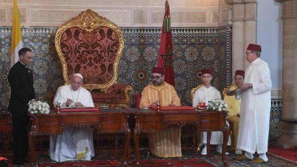 ĐGH Phanxicô và Vua Maroc ký tuyên ngôn chung về thành Jerusalem