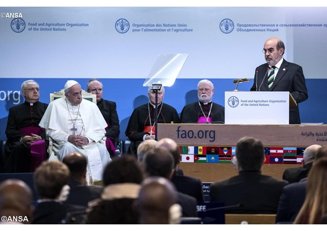 Đức Giáo hoàng viếng thăm tổ chức Lương nông quốc tế (FAO)