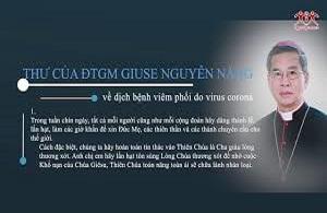 Thư của ĐTGM Giuse Nguyễn Năng về dịch bệnh viêm phổi do virus corona