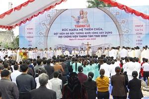 Thánh lễ tạ ơn đặt viên đá góc xây dựng Chủng viện Thánh Tâm Thái Bình