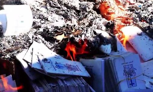 Sách của Kitô giáo bị thiêu hủy ở Mosul