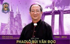 Thông báo: Lễ giỗ một trăm ngày Đức Cố Tổng Giám mục Phaolô Bùi Văn Đọc