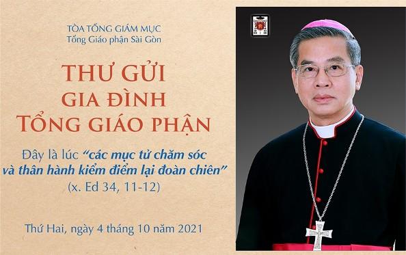 Thư mục vụ gửi gia đình Tổng Giáo phận Sài Gòn ngày 04.10.2021