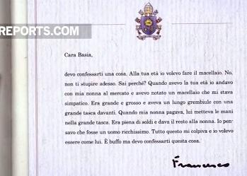 Đức Giáo hoàng Phanxicô trả lời thư thiếu nhi