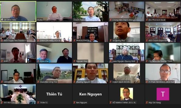 Hội nghị online của các đại chủng viện tại Việt Nam