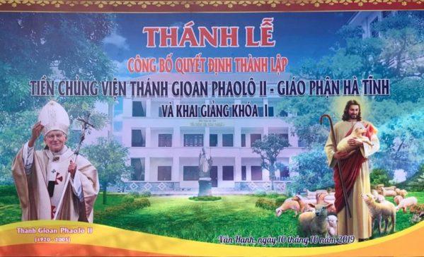 GP Hà Tĩnh công bố quyết định thành lập Tiền Chủng viện Thánh Gioan Phaolô II