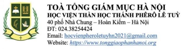 TGP Hà Nội: Quyết định Thành lập Học viện Thần học Thánh Phêrô Lê Tùy