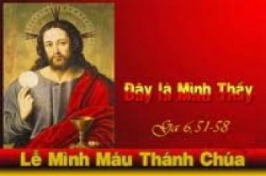 Tin Mừng bằng hình ảnh: Chúa Nhật Lễ Mình và Máu Chúa Kitô